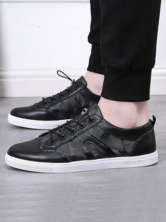 Black Canvas Comfort  Shoes for Casual Athletic