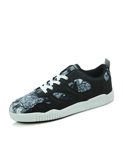 Black Blue and White Leather Comfort  Shoes for Casual Athletic