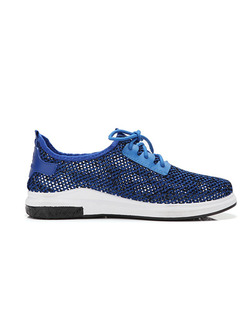 Blue and White Canvas Comfort  Shoes for Casual Athletic