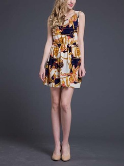 Yellow Colorful Short to Mini Dress for Casual Summer