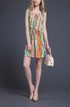 Orange Colorful Short to Mini Dress for Casual Summer