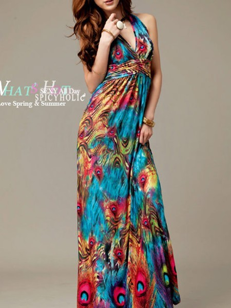 Colorful dress philippines fashion