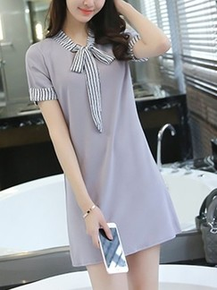 Grey Shift Above Knee Dress for Casual Office