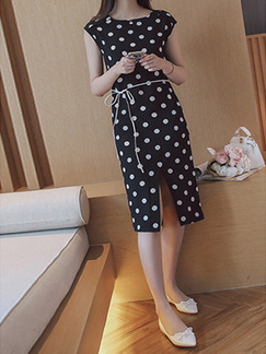 Black and White Long Printed Midi Dress for Casual Office Evening Special Offer