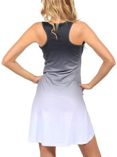 Grey Shift Above Knee Plus Size Dress for Casual Party Special Offer