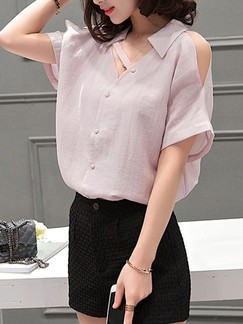 Pink Blouse Plus Size Top for Casual Office Evening Special Offer