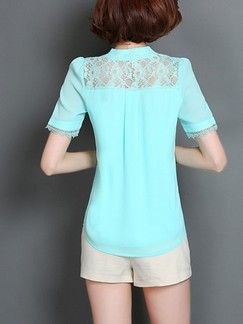 Green Blouse Plus Size Lace Top for Casual Office Evening Special Offer