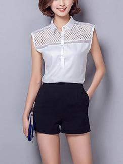 White Blouse Plus Size Top for Casual Office Special Offer