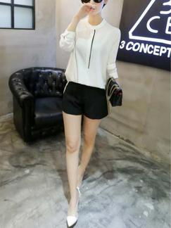 White Blouse Long Sleeve Plus Size Top for Casual Office