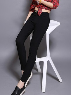 Black Long Plus Size Pants for Casual Office