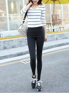 Black Long Plus Size Pants for Casual Office Special Offer