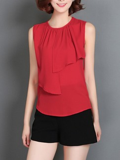 Red Blouse Plus Size Top for Casual Party Office Special Offer