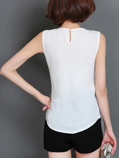 White Blouse Plus Size Top for Casual Party Office Special Offer