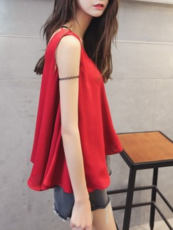 Red Tank Top for Casual