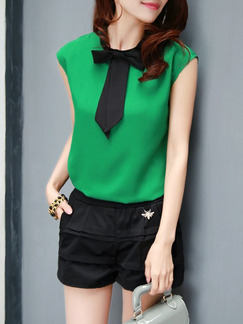 Green Blouse Plus Size Top for Casual Office
