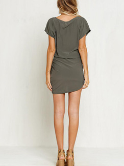 Grey Bodycon Above Knee Plus Size Dress for Casual Party Evening Special Offer