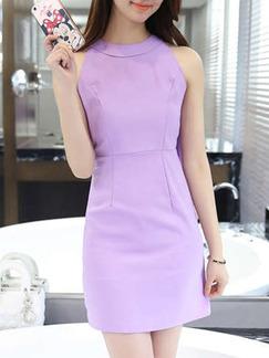 Purple above the Knee Dresses