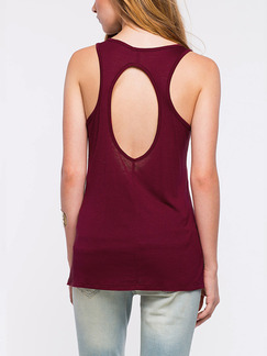 Red Tank Printed Plus Size Top for Casual