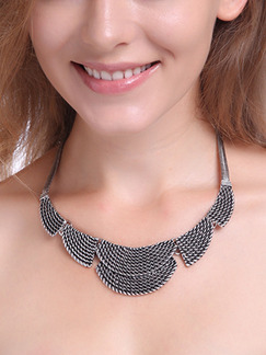 Alloy With Chain Bib  Necklace