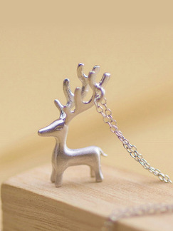 925 Silver With Chain Silver Chain Elk Pendant