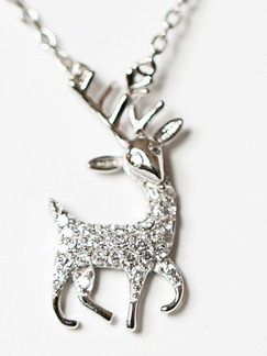 925 Silver With Chain Silver Chain Deer Pendant