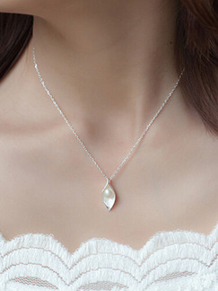 925 Silver With Chain Silver Chain Bead Pearl Pendant