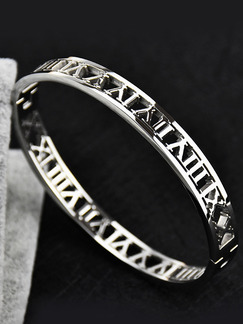 Silver Plated Alphanumeric Bangle
