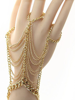 Gold Plated Finger Chain  Bracelet