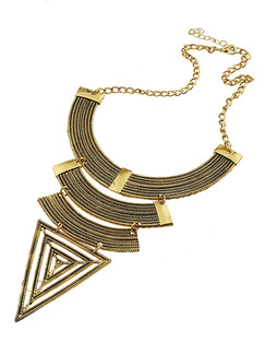 Gold Plated With Chain Gold Chain Bib Necklace