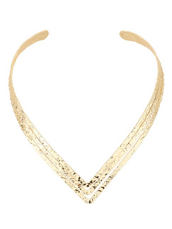 Gold Plated Open Necklace