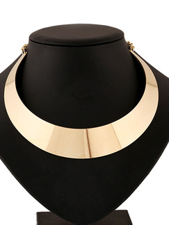 Gold Plated With Chain Gold Chain Collar Necklace