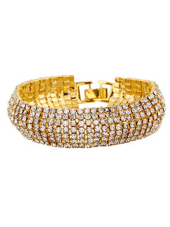 Gold Plated Tennis Rhinestone Bracelet