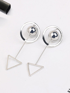 Silver Plated Dangle Bead  Earring