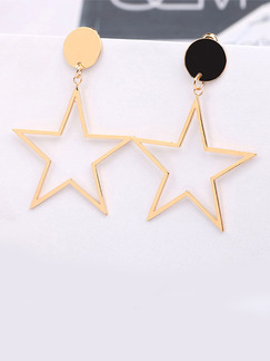 Gold Plated Star Dangle  Earring