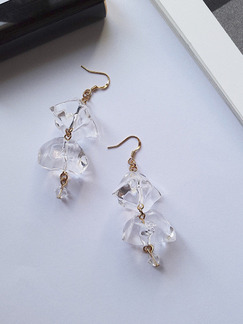 Gold Plated  Dangle Hook Gemstone Earring