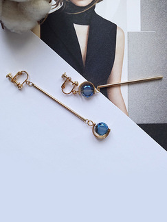 Gold Plated  Dangle Spphire Crystal Earring