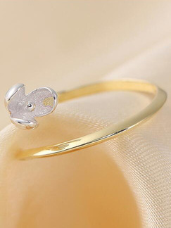 925 Silver Flower Open  Ring