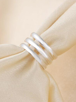 925 Silver Triple Open  Ring
