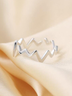925 Silver Wave Open  Ring