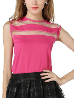 Pink Cute Blouse Plus Size Top for Casual Party