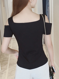 Black Blouse Top for Casual Evening