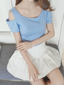 Blue Blouse Top for Casual Evening