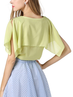 Green Blouse Plus Size Top for Casual Evening Party