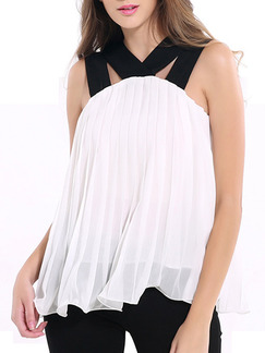Black and White Blouse Plus Size Top for Casual Evening Party