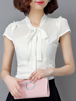 White Blouse Plus Size Top for Casual Office Evening