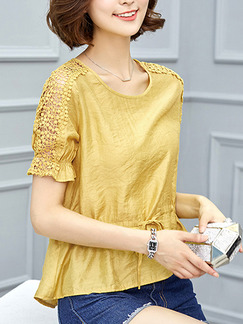 Golden Blouse Plus Size Top for Casual Evening Office