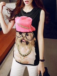 White Pink and Beige Cute Blouse Top for Casual Party