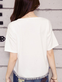 White T-Shirt Plus Size Top for Casual Party