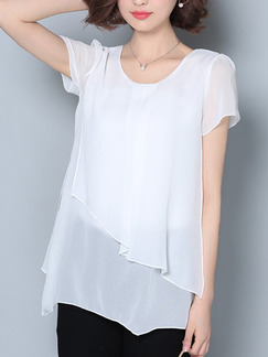 61683d69c0211 White Blouse Plus Size Top for Casual Evening Office  DRESS.PH ...