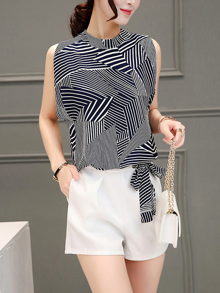 Black and White Two Piece Shirt Shorts Plus Size Wide Leg Jumpsuit for Casual Evening Party